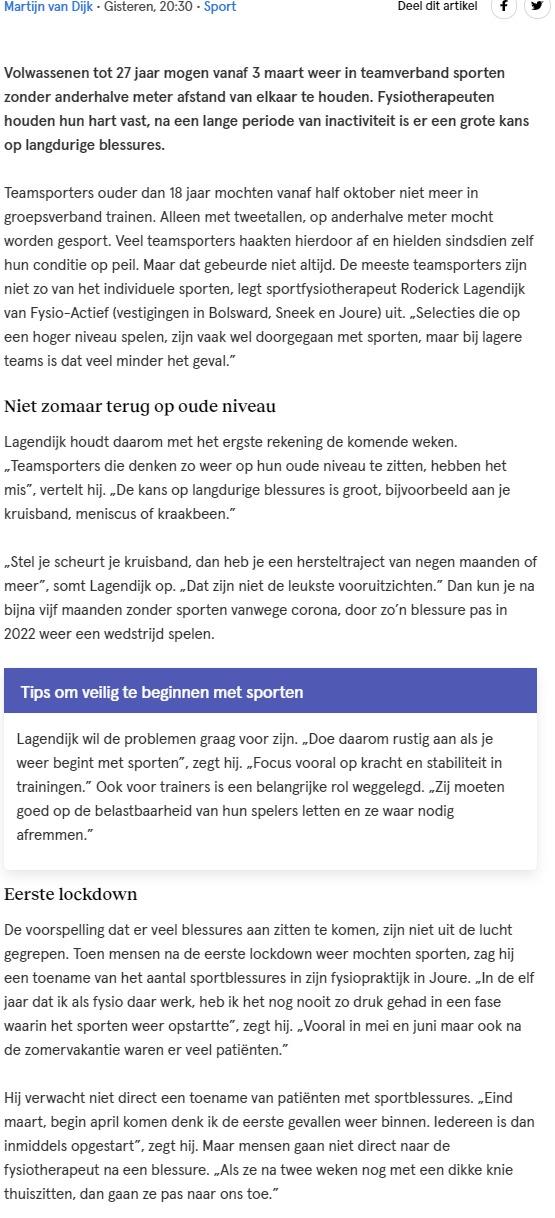 Artikel LC Roderick Lagendijk
